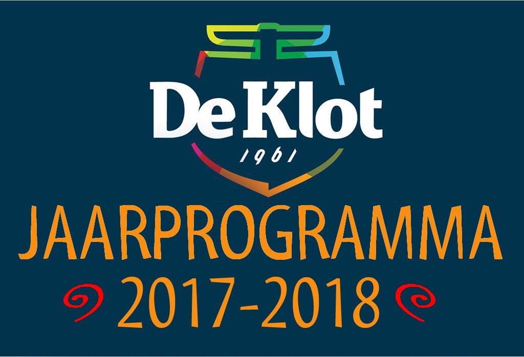 JAARPROGRAMMA 2017 2018 – CS De Klot